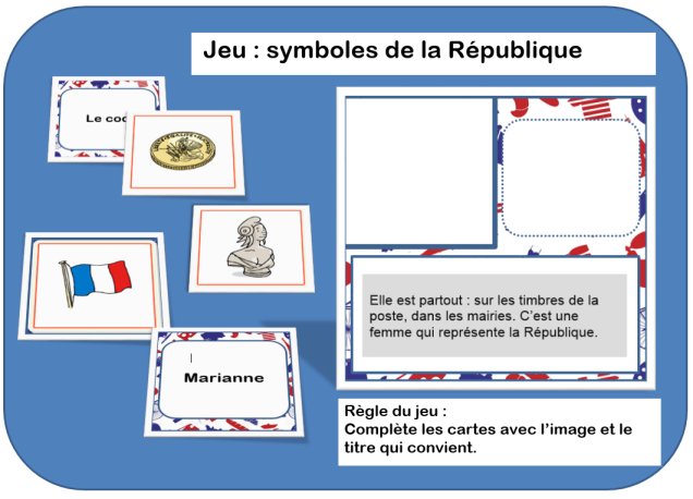 jeu symboles de la République