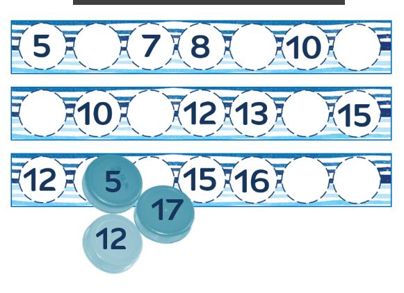nombres manquants 0 à 20